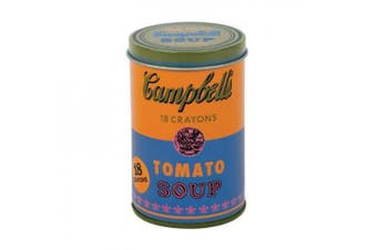 Mudpuppy Andy Warhol - Set of Crayons - Campbell's Soup Can (1965) - Orange and Blue