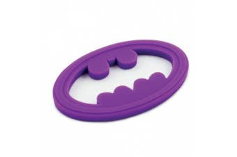 (Batman Purple) - Bumkins Dc Comics Silicone Teether, Batman Purple