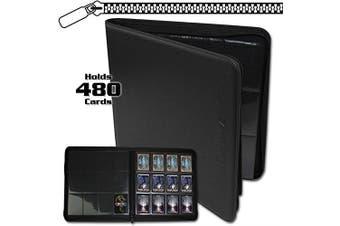 BCW Z-Folio LX Zipper Portfolio Black 12 Pocket Playset Album