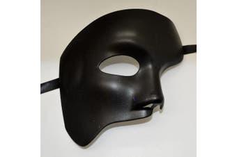 Men's Black Half Mask Blank Mask Masquerade Mask, Phantom of the Opera Venetian Mardi Gras Venetian Mask