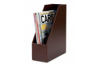 (Dark Brown) - Dacasso Dark Brown Bonded Leather Magazine Rack