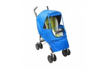(Blue) - Manito Elegance Alpha Stroller Weather Shield / Rain Cover - Blue
