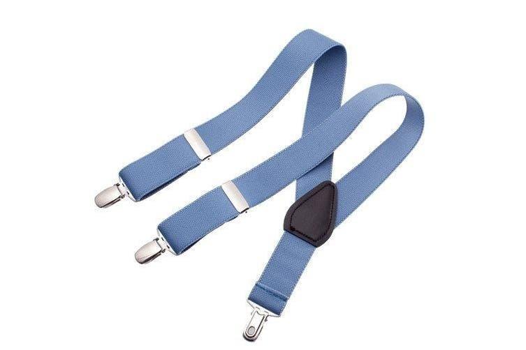 (80cm , Light Blue) - Clips N Grips Toddler Baby Kid Adjustable Elastic Suspenders