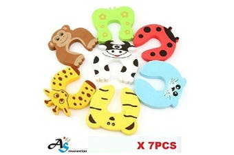 (Mix on each) - A & S Creavention Animal Foam Door Stopper Cushion Children Safety Finger Pinch 7PCS Set (Mix on each)
