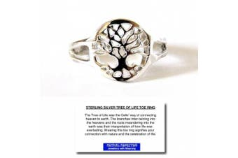Astral Aspects® Sterling Silver Tree of Life Toe Ring