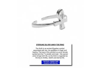 Astral Aspects® Sterling Silver Ankh Toe Ring