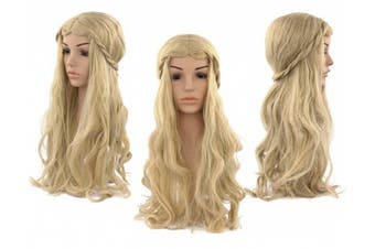 (light blonde) - Acecharming Blonde Wigs Women Girl's Charming Synthetic Wig Cosplay Party Wig With Wig Cap(Blonde)