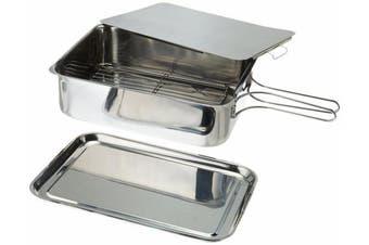 ExcelSteel Stainless Steel Stovetop Smoker, Medium, Silver