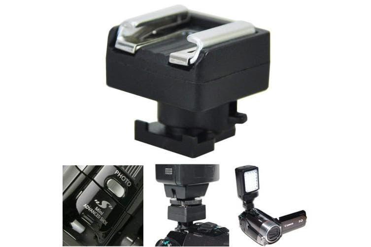 JW MSA-1 Mini Advanced Hot Shoe to Universal Shoe Adapter for VIXIA HF M30 HF M300 HF M31 HF M32 HF S10 HF S100 HF S11 HF S20 HF S200 HF S21 HF20 HF200 HF21 + JW emall Micro Fibre Cleaning Cloth