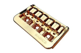 (Gold) - Babicz Full Contact Hardware Fixed 6 Hardtail Guitar Bridge - Gold