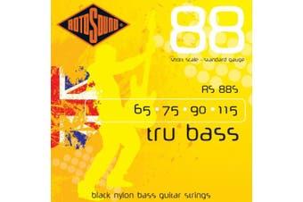 Rotosound RS88S Black Nylon Flatwound Short Bass Guitar Strings