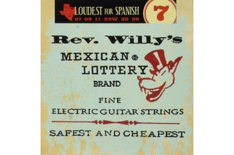 (Extra Light (7-38)) - Dunlop RWN0738 Reverend Willy Electric Guitar Strings - Extra Light