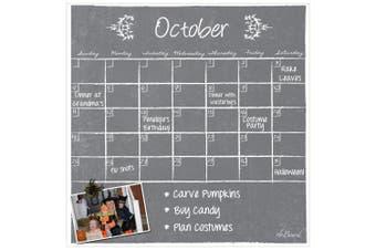(Gray) - Dry Erase Calendar Magnet Grey Chalkboard Monthly 39cm x 39cm