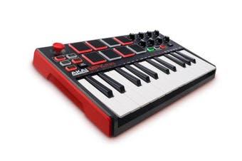 (Standard) - Akai Professional MPK Mini MKII | 25 Key Portable USB MIDI Keyboard With 8 Backlit Performance Ready Pads, 8 Assignable Q Link Knobs & A 4 Way Thumbstick