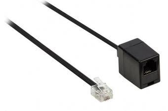 Valueline 5.00 m RJ11 Male to Female Telecom Extension Cable - Black