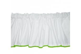 (Green Apple) - Baby Doll Bedding Forever Mine Junior 5 Piece Window Valance Curtain Set, Green Apple