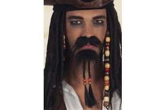 Jack Sparrow Style Pirate Fake Beard and Moustache