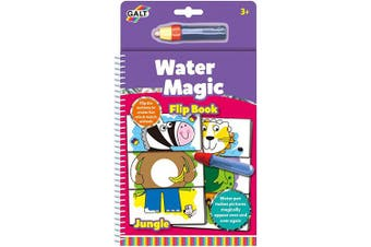 (Flip Book Jungle) - Galt Toys Water Magic Flip Book Jungle, Colouring Book for Children