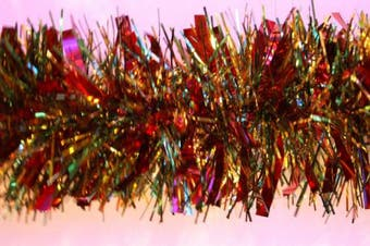 Red/Green/Gold Chunky/Fine Christmas Tinsel -4 metre- Christmas Decoration