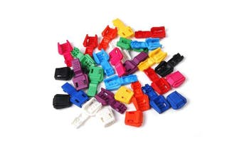 100pcs Plastic Zipper Pull Cord Ends For Paracord & Cord Tether Tip Cord Lock FLS022(Mix-s)