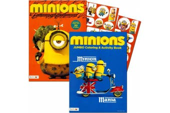 Minions Colouring and Activity Book Set with Stickers (2 Books)