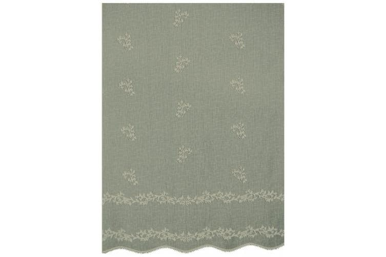 (36cm  by 80cm , Flax) - Heritage Lace Sheer Divine Table Runner, 36cm by 80cm , Flax