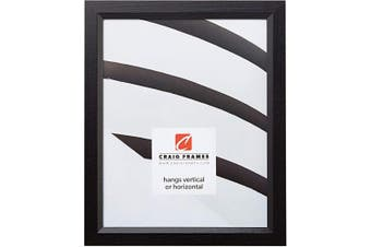 (16 x 24) - Craig Frames 7171610BK 41cm by 60cm Picture/Poster Frame, Wood Grain Finish, .2100cm Wide, Solid Black