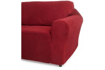(Burgundy) - Classic Slipcovers 60-180cm Loveseat Cover, Burgundy