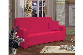 (Love Seat, Ruby) - Elegant Comfort® Furniture Jersey STRETCH SLIP-COVER, Loveseat Ruby