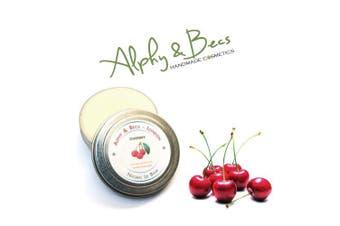 Natural Lip Balm Tin With Mango Butter - Cocoa Butter - Avocado Oil - Vitamin E - 15ml - Cherry