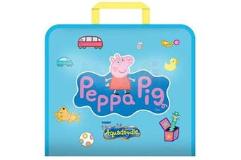 (Aquadoodle Travel - Peppa Pig) - Aquadoodle Peppa Pig Doodle Travel Water Doodle Mat, Official TOMY No Mess Colouring & Drawing Game, Suitable for Toddlers and Children - Boys & Girls . , 2, 3, 4+ Year Olds