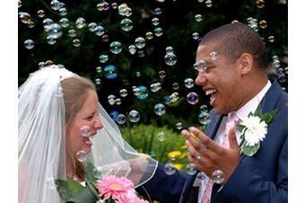 (36) - Wedding / Party Bubble Tube - Heart Top Wand - Confetti Alternative (36)