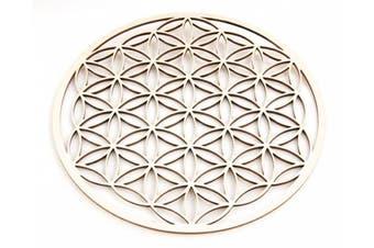 Berk - Inner Worlds EN-073 Meditation Accessories Flower of Life Out of Wood