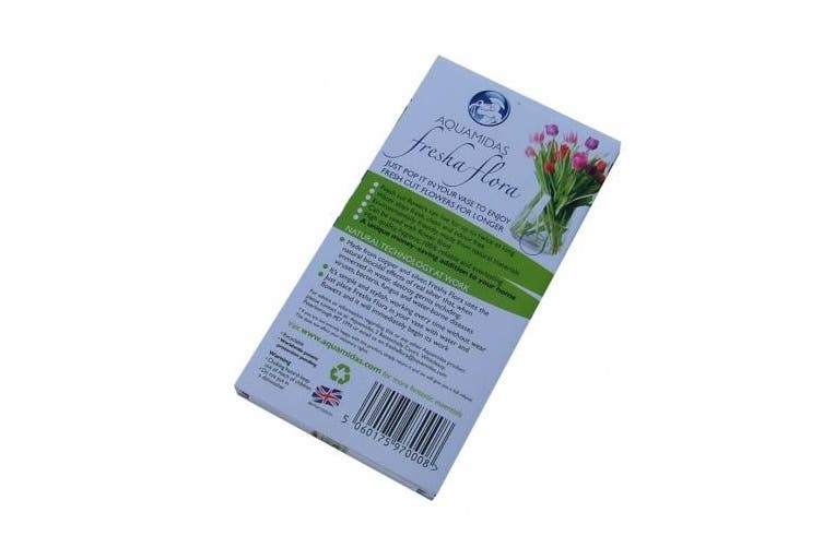 FreshaFlora anti-microbial disc - extends the life of cut flowers. . .