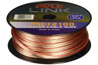 (100 Feet, 12 - Gauge) - 12 Gauge 30m Spool of High Quality Speaker Zip Wire