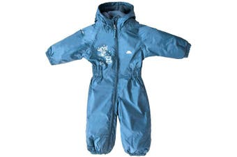 (Size 12/18, Cobalt) - Trespass Kids' Waterproof Drip Drop Outdoor Rain Suit