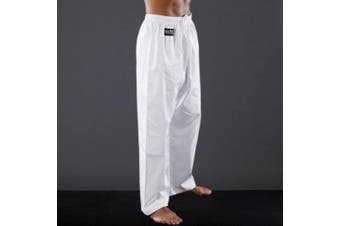 (White, 110 cm) - Blitz Kids Polycotton Student Karate Pants/Trousers - White/Black