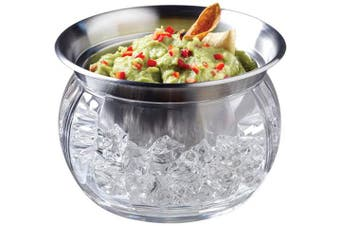 (1, 3-pc.) - Prodyne Steel Iced Dip Cup N Acrylic Chill Bowl Keeps Dip - IC6