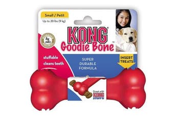 (Small) - KONG Goodie Bone Dog Toy, Small, Red