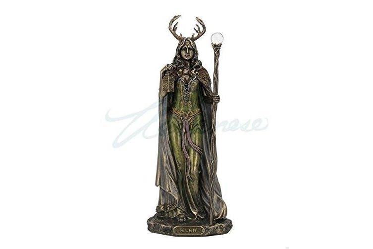 (Bronze) - Elen of the Ways - Antlered Goddess of the Forrest Statue Sculpture Figure