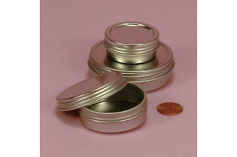 Screw Top Round Steel Tins, 60ml (12 Per Pack)