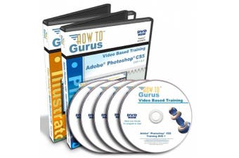 Adobe Photoshop CS5 and Adobe Illustrator CS5 Tutorial Training on 5 DVDs, 43 Hours in 540 Video Lessons, Computer Software Video Tutorials