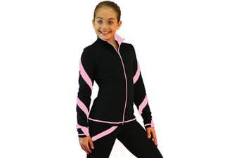 (Adult Small, Pink) - ChloeNoel J36 Spiral Skate Jacket Chloe Noel