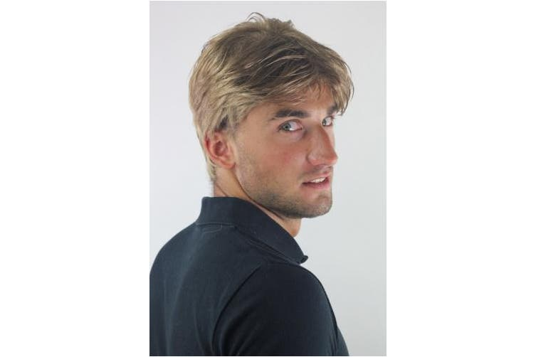 Men's WIG (for Men or Unisex) HIGH QUALITY synthetic short DARK BLOND youthful young look GFW967-14 Man