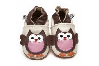 Soft Leather Baby Shoes Owl 0-6 months