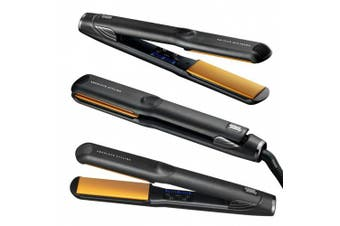 (Classic flat iron: 1-1/4 -inch) - Glampalm Classic Ceramic Hair Straightener, 1-1/4 -inch , Hair Styling Flat Iron with Digital LED + [FREE Heat resistant pouch and Cap]