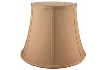 (20cm  X 30cm  X 23cm , Honey) - American Pride Lampshade Co. 72-78095712B Round Soft Tailored Lampshade, Shantung, Honey