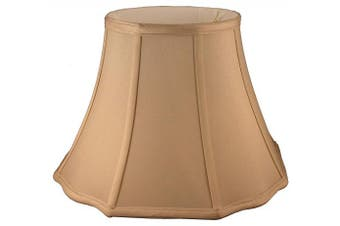 (18cm  X 25cm  X 23cm , Honey) - American Pride 18cm x 25cm x 23cm Scallop Octagon Soft Shantung Tailored Lampshade, Honey