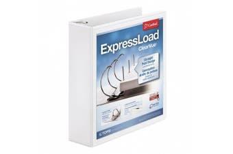 (5.1cm ) - Cardinal ExpressLoad ClearVue Locking D-Ring Binder, 5.1cm , White