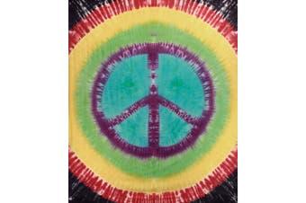 (220cm  x 250cm , Rainbow Peace) - Sunshine Joy Rainbow Tie-dye Peace Sign Tapestry - Hanging Wall Art - Beach Wrap (220cm X 250cm )